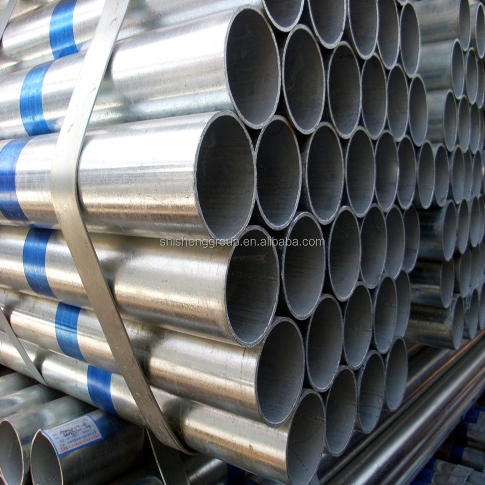 China manufacturing Q235 galvanized carbon steel pipe , made in Tianjin,China
