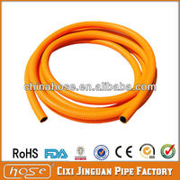 Cheap Orange Flexible Fibre braided PVC Fuel Hose Pipe used in Stove with yellow stripes and spot for Russian Market