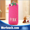 3D Cute Strawberry/Pineapple Phone Case for IPhone5/4, pink case
