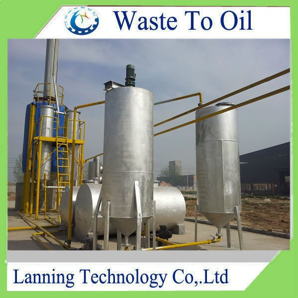 85% oil yield Eco-friendly multi-safety waste engine oil to diesel machine