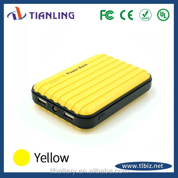 promotion gift mini suitcase best portable power bank 12000mah