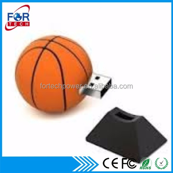 Unique 2016 Basketball Pendrive Xmas Gift Ball Shaped USB Flash Drives Bulk 2gb for Sales