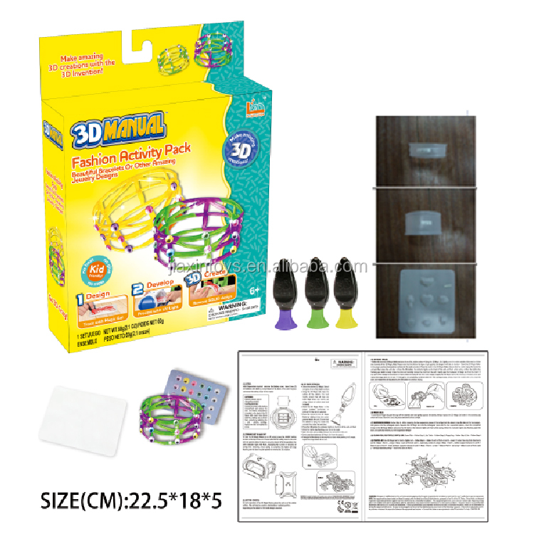 3D glue Fashion activity pack Educational Toys for children play