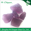 Frosted purple colored small fireplace glass block for fire pit and garden decoration