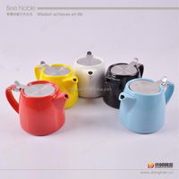 600ml Ceramic Teapot With Stainless Steel Strainer