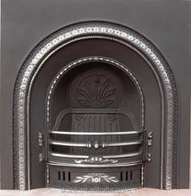 23 years professional classic cast iron wood burning fireplace mantel