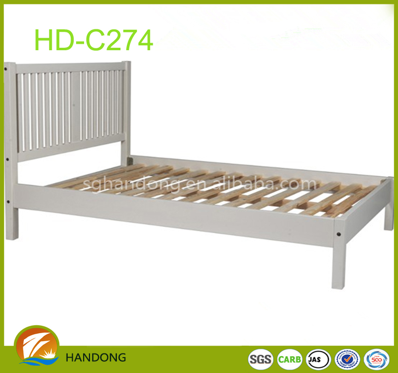 latest home furniture KD plywood double bed designs