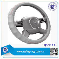Leather 38 cm Steering Wheel Cover/Car Accessories