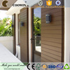 Exterior plastic laminate wood wall coverings