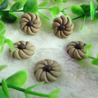 Wholesale 20mm Jewelry Biscuit Food Cabochons/Resin Flat Back Charms/Kawaii Phone Cabochons