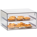 dongguan supplier acrylic bakery display case , cake display stand