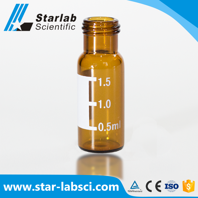 2ml 9-425 glass hplc vials with PTFE silicone septa