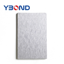 Bathrooms silver brushed aluminum composite wall panel