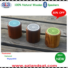 2014 New super bass wood stereo bluetooth speaker for tablet pc and smart phones and eco speakers for smart phones BSW08