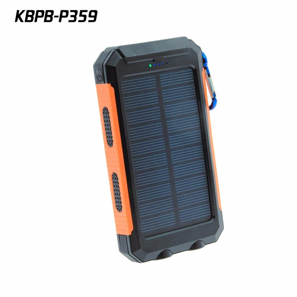 10000 mah battery pack waterproof 2w solar charger battery pack for mobile phones