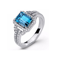 New Product Design! 925 Sterling Silver Emerald Cut Wedding Engagement CZ Diamond Jewelry Ring for Women Jewelry KR2101S