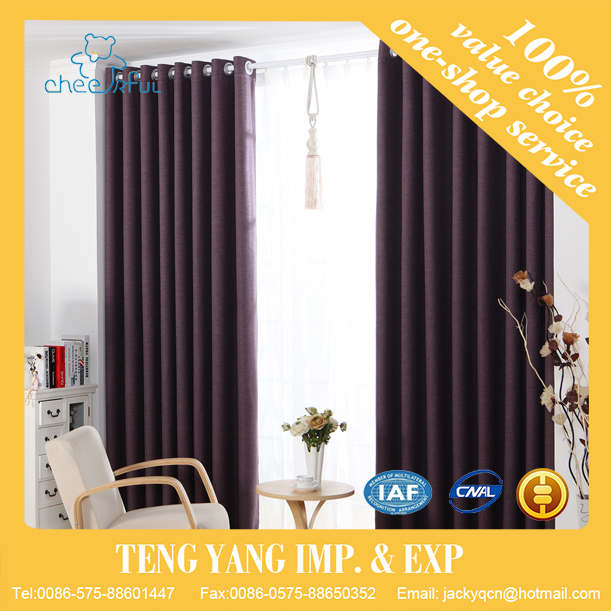 Ready made curtain supplier Cheap Classical lined curtains
