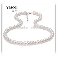 fashion elegant 8-9mm button freshwater pearl jewelry set, pearl necklace set
