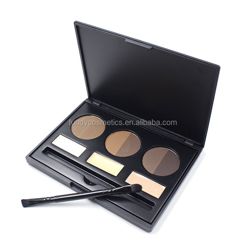 Hot selling Make Up Eyebrow Kit 9 color Makeup Eyebrow palette Waterproof pressed eyebrow powder