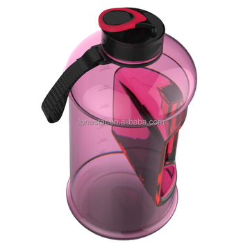 2017 Amazon wholesale BPA free 2.2l Hydrate Drinking petg Large Capacity Sports Water Bottle in USA