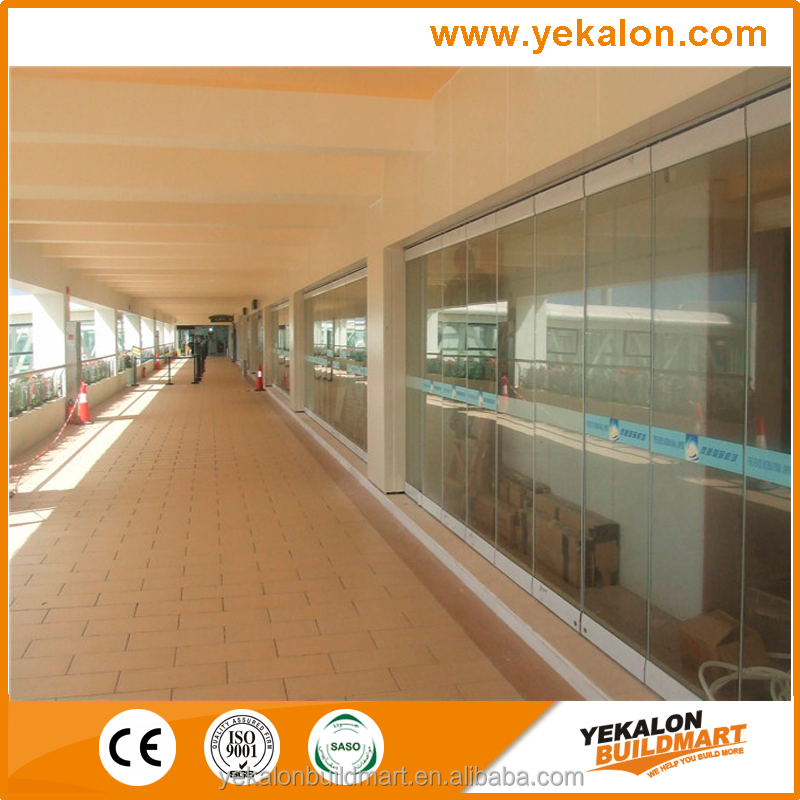 Yekalon curtain wall system big discount lobby or living room glass partition design