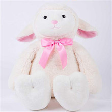 2017 Cute Cartoon Lovers Sitting Sheep Plush Stuffed Toy For Gift