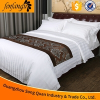 alibaba supplier hotel cotton double size bed sheet set China made 5 star hotel spanish style bedding