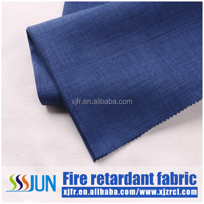 permanent FR blacout 3 pass blackout inherently flame retardant fabric from the yarn for window curtain bed room curtains