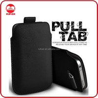 Manufacturer Wholesaler Mobile Phone Magnetic Sleeve PU Leather Pouch Pull Tab Case for samsung galaxy j1