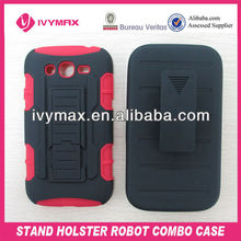 hotsell stand holster robot cell phone case for samsung galaxy grand duos i9082
