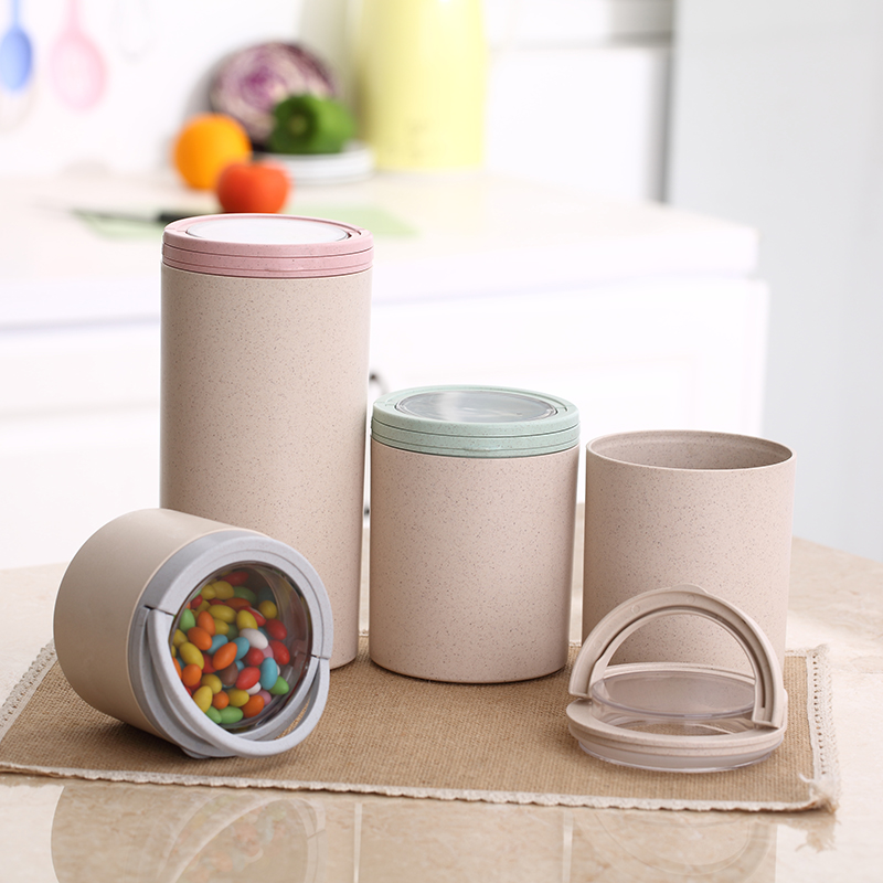 Storage Jars Type and Food Use rice husk fiber plastic container with lid