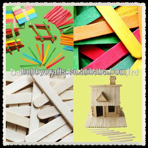 2016 hot selling, wood craft sticks for arts and crafts, DIY toy, popsicle sticks, Eco friendly