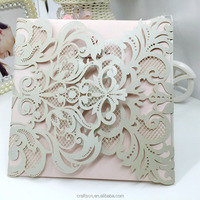 pearlescent blank wed card and envelopes for invitation