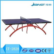 2017 factory direct sale small rainbow double folded table tennis table