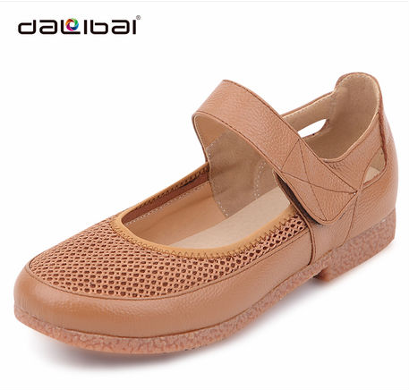 DALIBAI 2013 camel color straps fashion women MOTHER rubber flat shoes with breathable net face