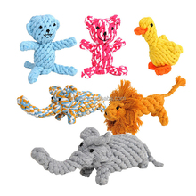 various hand braided animal shaped cotton rope dog teeth toy