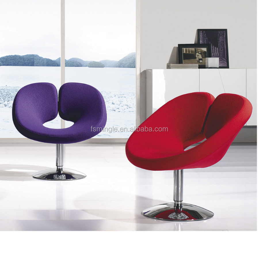 Fashion design of leisure chair for coffee tables with swivel base or fixed base