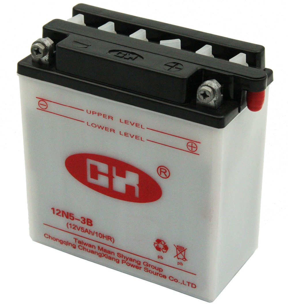 12V 5Ah Dry Charged Lead Acid Battery For Italika Motorcycle