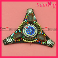 handmade exotic western women beads patch shoe and boot decoration WSF-379