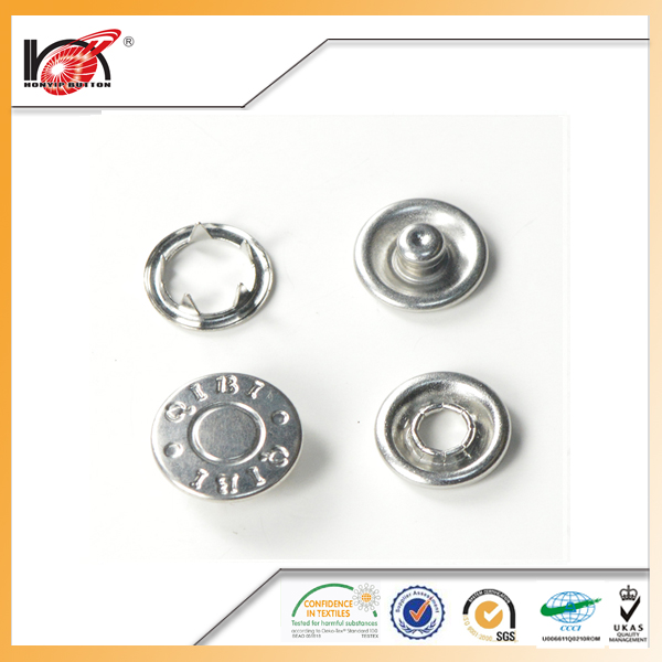 Hot ring prong snap fastener button metal button for garment accessories