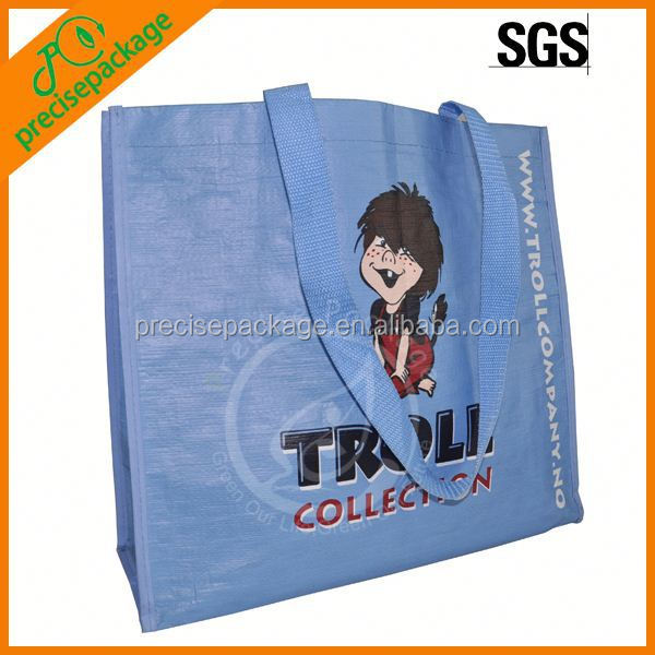 Cute laminated non woven handbag with cartoon image