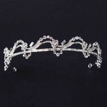 Fashion Sliver Small Bridal Pageant,Rhinestone,Crystal, Prom,Wedding Crown Tiara Cheap