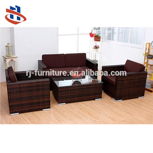 Poly rattan cane Imitate plastic wicker hand weave sofa/Outdoor patio metal anti-rust furniture