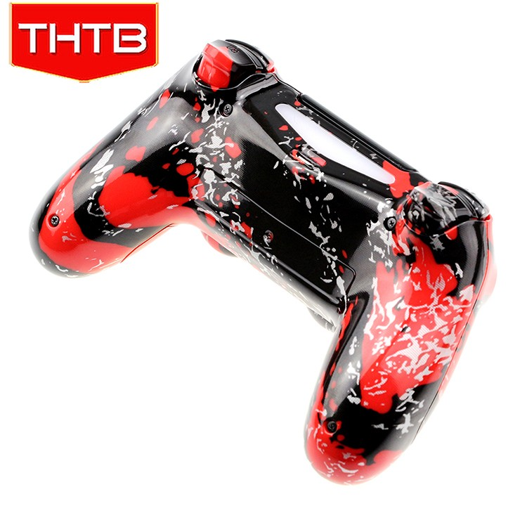 Hydro dipped RED splatter customized shell for ps4 controller shell