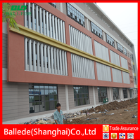 curtain wall external horizontal aerofoil louver