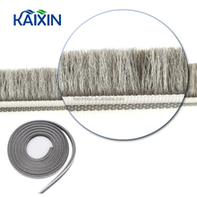 Customizable plastic mohair weather strip for sliding window seal