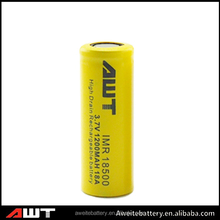 AWT 18500 1200MAH with CE & RoHS Certificate Li-ion Battery ni-cd sc 1200mah Rechargeable Battery 1.2v