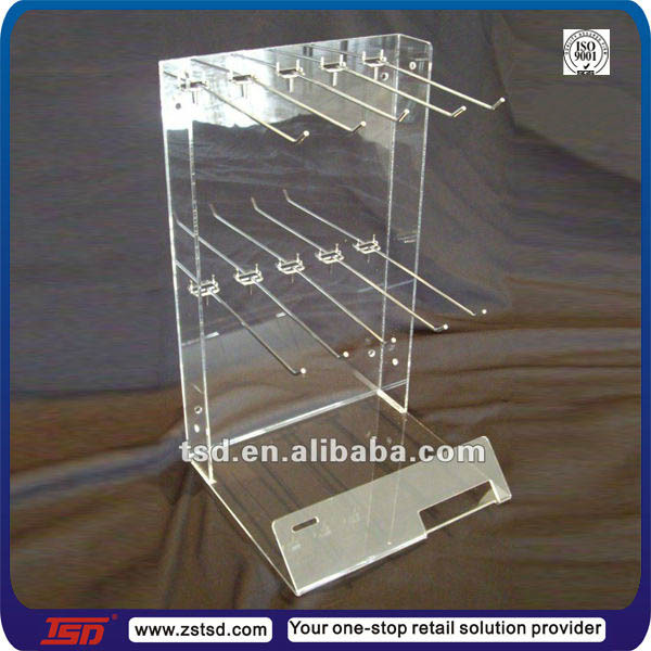 Retail Store Clear Acrylic Hook Stand Peg Hook Counter
