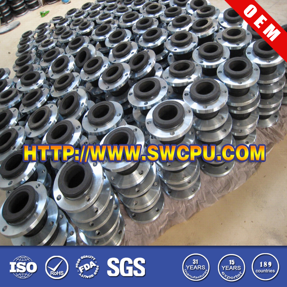 Soft single sphere galvanized flange rubber expansion joint