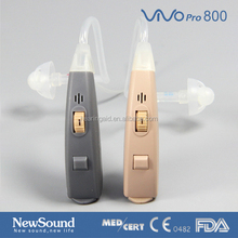 Digital programmable hearing aid with slim tube for moderate hearing loss
